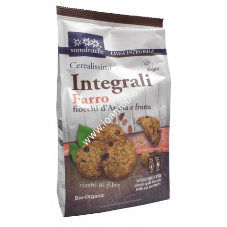 Cerealissimi di Farro Integrale con Avena e Frutta 300g - Biscotti Sottolestelle