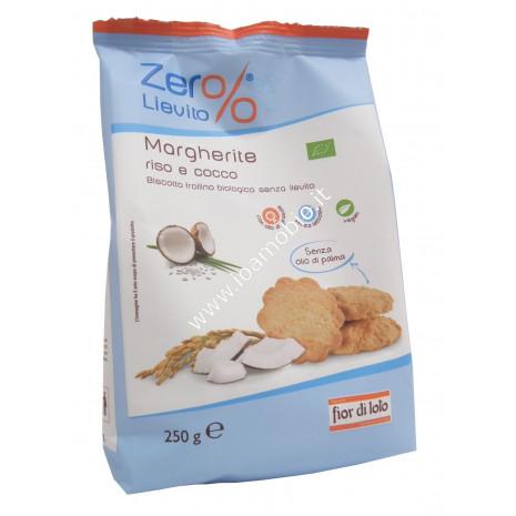 Margherite Riso e Cocco 250g - Biscotto Frollino Biologico Senza Lievito