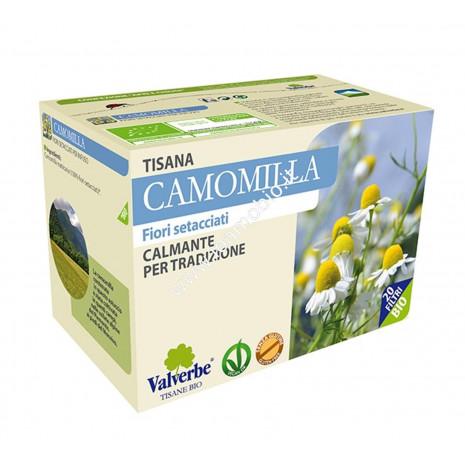 Camomilla 20 filtri - Valverbe Tisana biologica Calmante per tradizione
