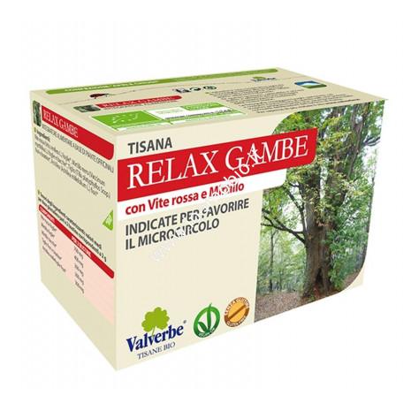 Relax Gambe 20 filtri - Valverbe Tisana biologica - Favorisce il microcircolo