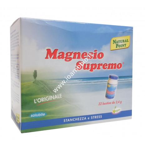 Magnesio Supremo 32 bustine - Integratore Dolori Articolari, Stanchezza e Stress
