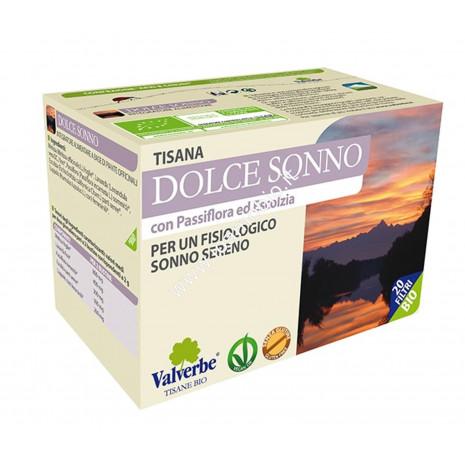 Dolce Sonno 20 filtri - Valverbe Tisana bio - Per un fisiologico sonno sereno