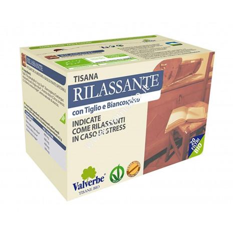 Rilassante 20 filtri - Valverbe Tisana biologica - Rilassante in caso di stress