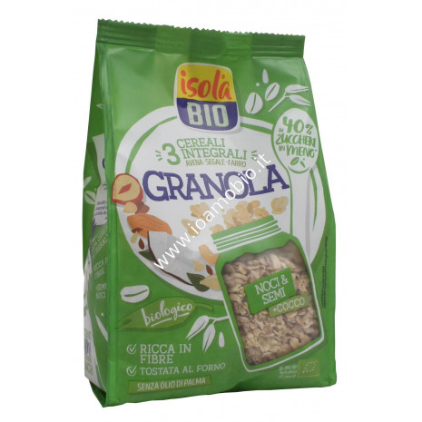 Granola Noci e Supersemi con Cocco 350g - Crunch Biologico Isola Bio