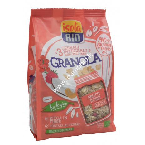 Granola Superfrutti Rossi, Cocco e Anacardi 350g - Crunch Biologico Isola Bio