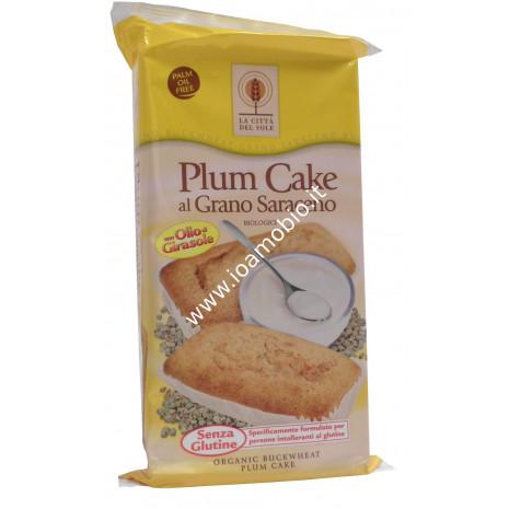 Plum Cake al Grano Saraceno 4x45g- Merendine Senza Glutine Bio La Città del Sole