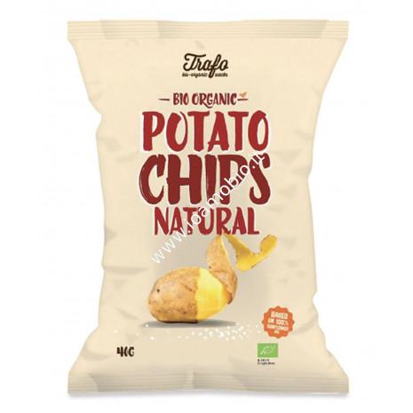 Patatine con sale 40g - Chips classiche biologiche