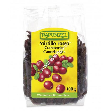 Mirtilli Rossi 100g - Cranberries Secchi Biologici Antiossidanti - Rapunzel