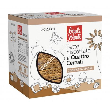 Fette Biscottate ai 4 Cereali Bio 300g - Baule Volante