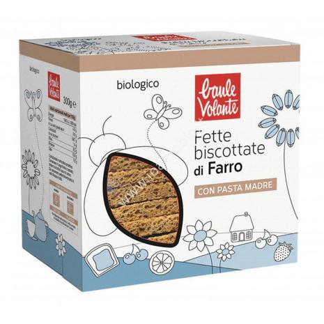 Fette Biscottate di Farro Bio 300g - Baule Volante