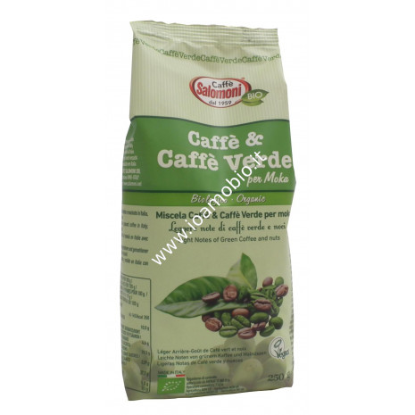 Caffè e Caffè Verde per Moka 250g - Biologico Salomoni