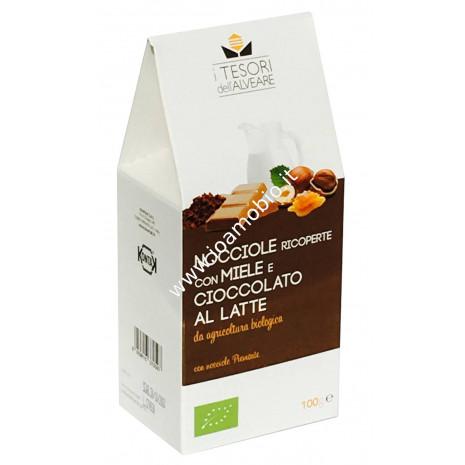Nocciole ricoperte con Ciocc. Al Latte Bio 100 gr.
