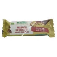 Barretta Croccante di Amaranto ricoperta di Cioccolato fondente 25g