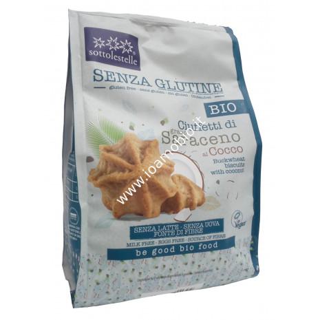 Biscotti Ciuffetti di Saraceno al Cocco 250g - Bio senza glutine Sottolestelle