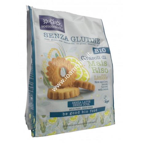 Biscotti Girasoli di Mais e Riso al Limone 250g - Bio senza glutine Sottolestelle