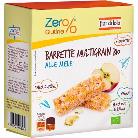 Barrette Multigrain alla Mela 130g - Biologiche Senza Glutine Fior di Loto