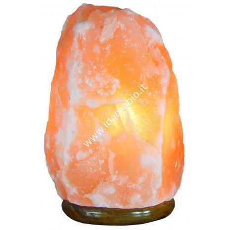 Lampada di Sale Rosa Himalaya 3-6 kg - con Filo e Lampadina - Fior di Loto