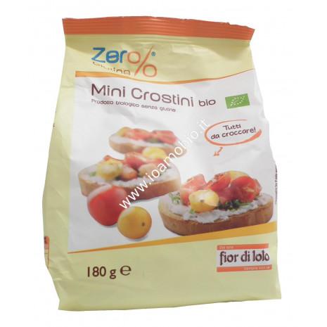 Mini Crostini Biologici Zero%Glutine 180g - Senza Glutine Fior di Loto