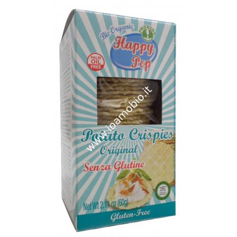 Potato Crispies Original 60g - Chips Happy Pop - Patatine biologiche