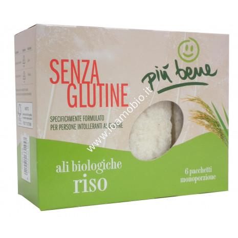 Ali di Riso 6x20g - Croccanti Cialde Biologiche Senza Glutine - Più Bene
