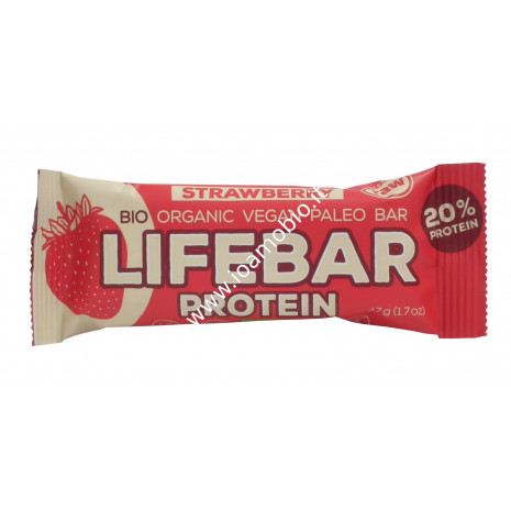 Barretta Lifebar Proteica Fragola Raw 47g - Biologica e Cruda