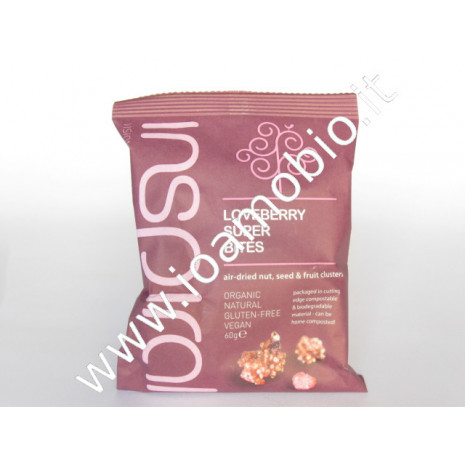 Inspiral- superfoods raw fruits bites frutti rossi 60g
