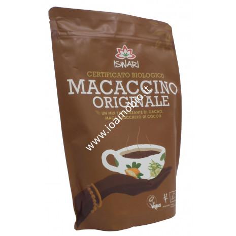 Macaccino 250g - Mix Energizzante di Cacao, Maca e Zucchero di Cocco - Iswari