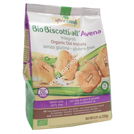 Biscotti all'Avena Integrali 250g - Biologici Senza Glutine - Altri Cereali