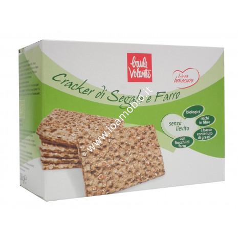Crackers di Segale e Farro senza lievito - Linea Benessere 250g - Baule Volante