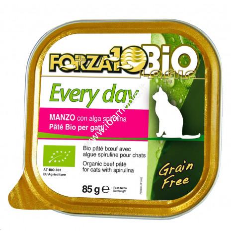 Patè al Manzo per Gatti con Alga Spirulina 85g - Cibo Biologico Forza10