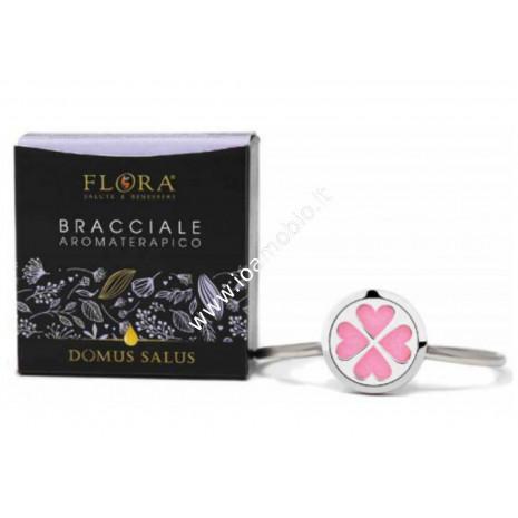 Bracciale Aromaterapico con Feltrini Flora - Diffusore di Oli Essenziali Puri
