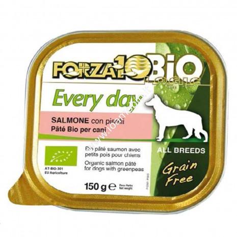 Patè per Cani al Salmone con Piselli 150g - Cibo Biologico Forza10