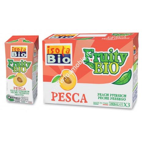 Fruity Bio - Succo e Polpa di Pesca 3x200ml - Succo Frutta Biologico Isola Bio