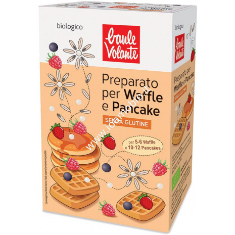 Preparato per Waffle e Pancake Senza Glutine 200g - Biologico Baule Volante