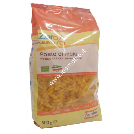 Fusilli di Mais Senza Glutine 500g - Pasta Biologica Zero%Glutine