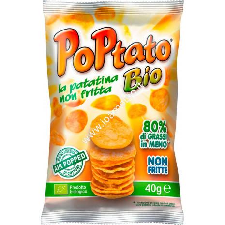 Poptato Patatine Bio non Fritte 40g - Snack Salato Chips Biologiche