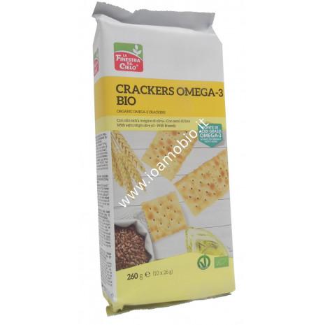 Crackers Omega 3 - 260g - Snack salati biologici con lievito madre