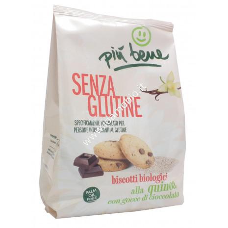 Biscotti alla Quinoa con Gocce di Cioccolato Bio 250g - Senza Glutine Più Bene