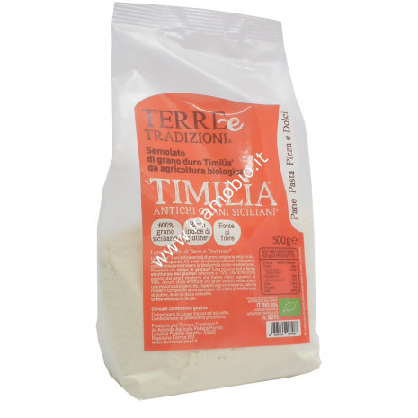 Semolato di Timilia 500g - Farina Bio di Grani Antichi Terre e Tradizioni
