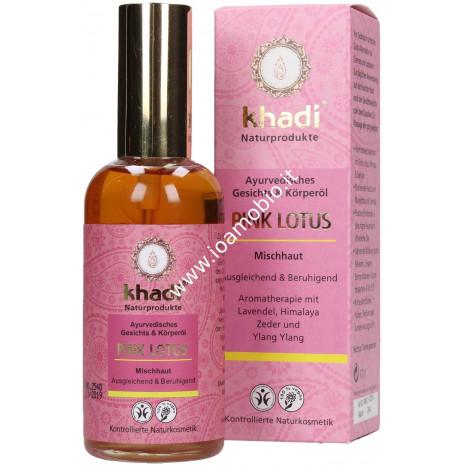 Khadi Bio - Olio Viso Corpo Pink Lotus 100ml