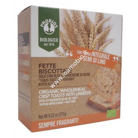 Fette biscottate integrali con semi di lino 270g