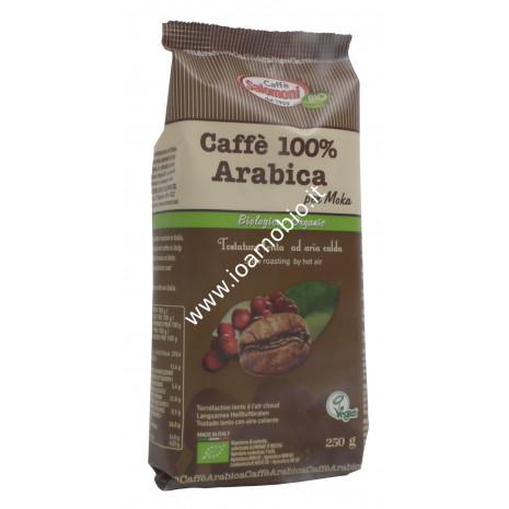 Caffè 100% Arabica biologico Macinato 250g - per Moka