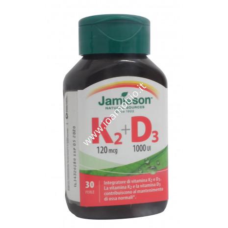 Jamieson Vitamina K2 + D3 - Integratore di sostegno per Ossa e Articolazioni