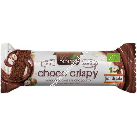 Barretta Choco Crispy - Riso Soffiato Cacao e Nocciola 15g - Fior di Loto