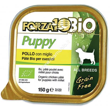 Patè al Pollo con Miglio per Cani Cuccioli 150g - Cibo Biologico Forza10