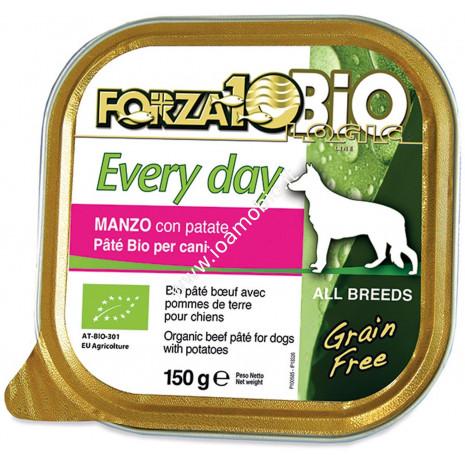 Patè al Manzo con Patate per Cani 150g - Cibo Biologico Forza10