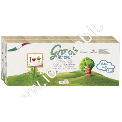 Fazzoletti Ecologici 4 veli - Grazie Natural 10 pacchetti