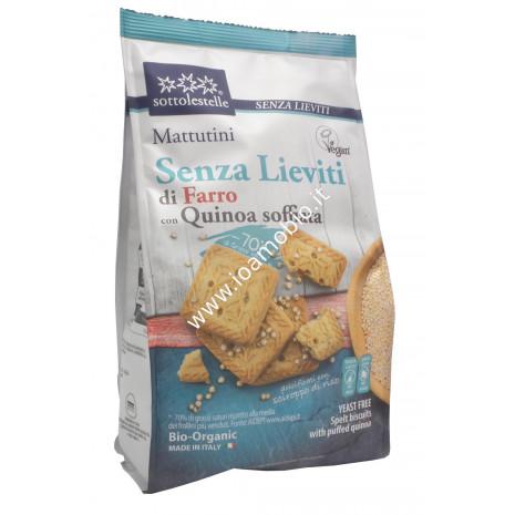 Mattutini di Farro con Quinoa Soffiata 300g - Biscotti Frollini Sottolestelle