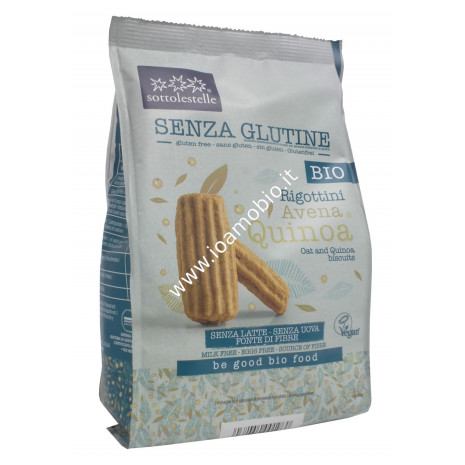 Biscotti Rigottini di Avena e Quinoa 250g - Bio senza glutine Sottolestelle