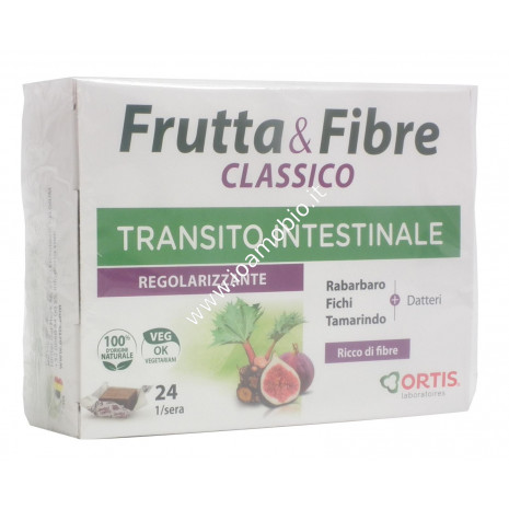 Frutta & Fibre Classico 24 cubetti - 240g - Integratore transito intestinale